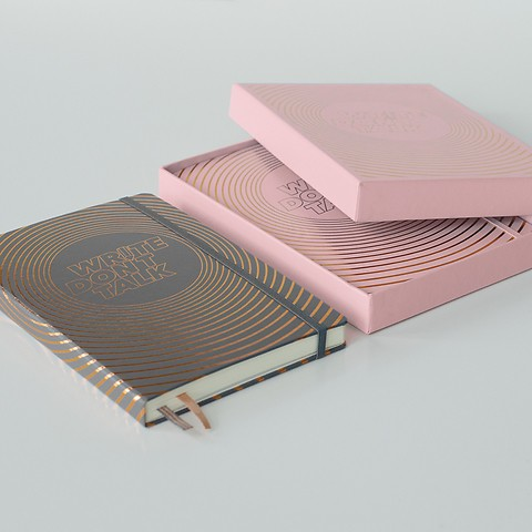 Write, don't talk - Notebooks Hardcover, dotted