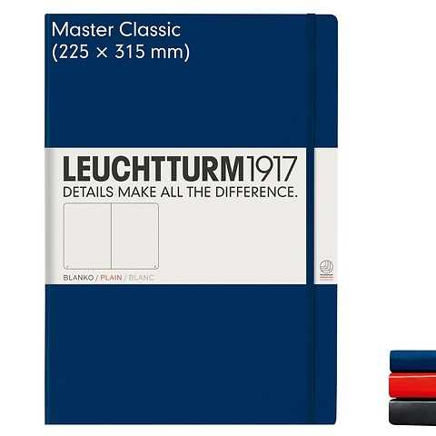 Notebook Master Classic (A4+), Hardcover, 233 numbered pages (8 3/4 x 12 1/2 in)