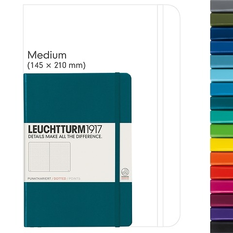 Notebook Medium (A5), Hardcover, 249 numbered pages (5 3/4 x 8 1/4 in)