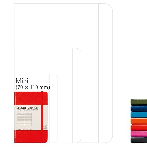 Notebook Mini (A7), Hardcover, 169 numbered pages (2 3/4 x 4 1/2 in)