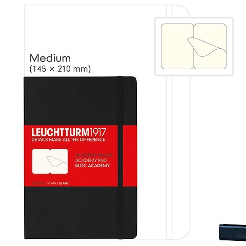 Academy Pad Medium (A5), Hardcover, 60 sheets removable