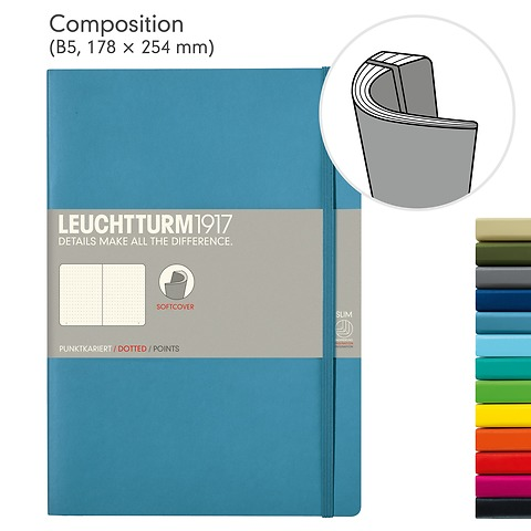 Notebook Composition (B5), Softcover, 121 numbered pages (7 x 10 in)