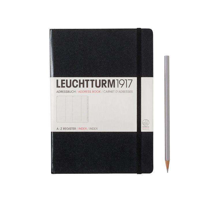 Address Book Medium (A5), Hardcover, black