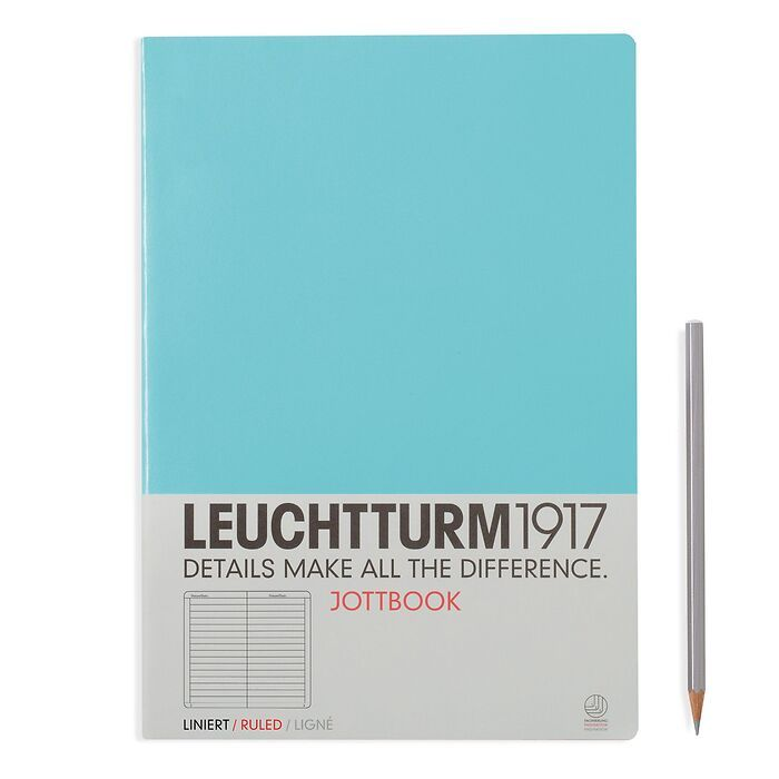 Jottbook A4 (210x297) 60 pages, 16 pages perforated, ruled, light blue