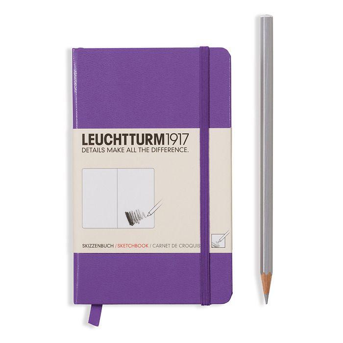 Sketchbook Pocket (A6) 96 pages (180 g/sqm), plain, lavender