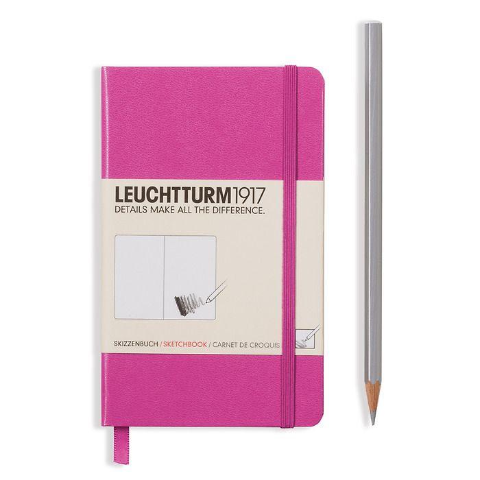 Sketchbook Pocket (A6) 96 pages (180 g/sqm), plain, pink