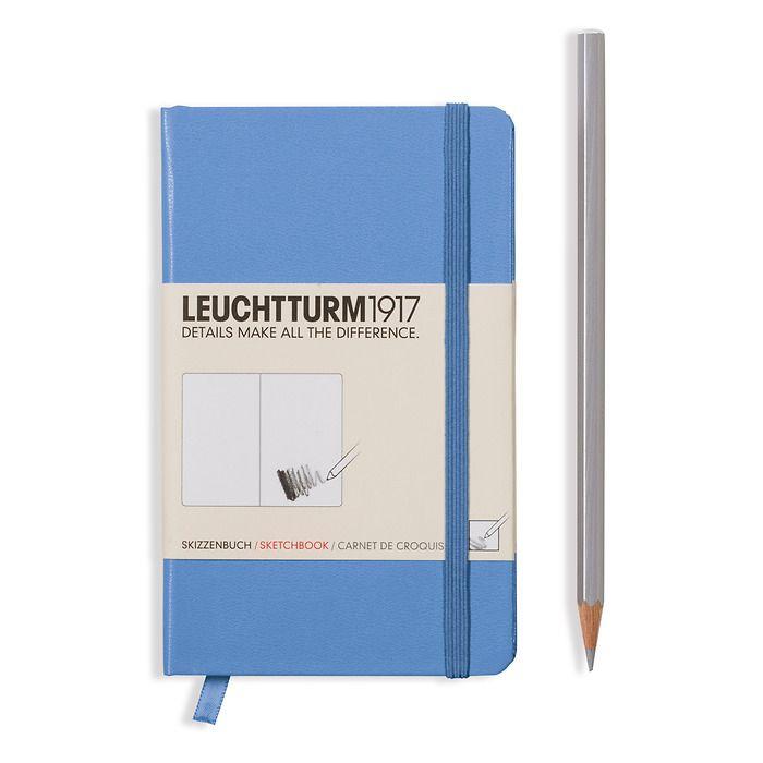 Sketchbook Pocket (A6) 96 pages (180 g/sqm), plain, cornflower