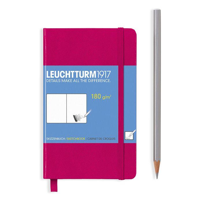 Sketchbook Pocket (A6) 96 pages (180 g/sqm), plain, berry