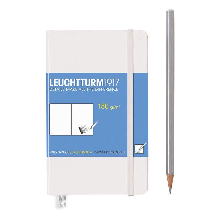 Sketchbook Pocket (A6) 96 pages (180 g/sqm), plain, white