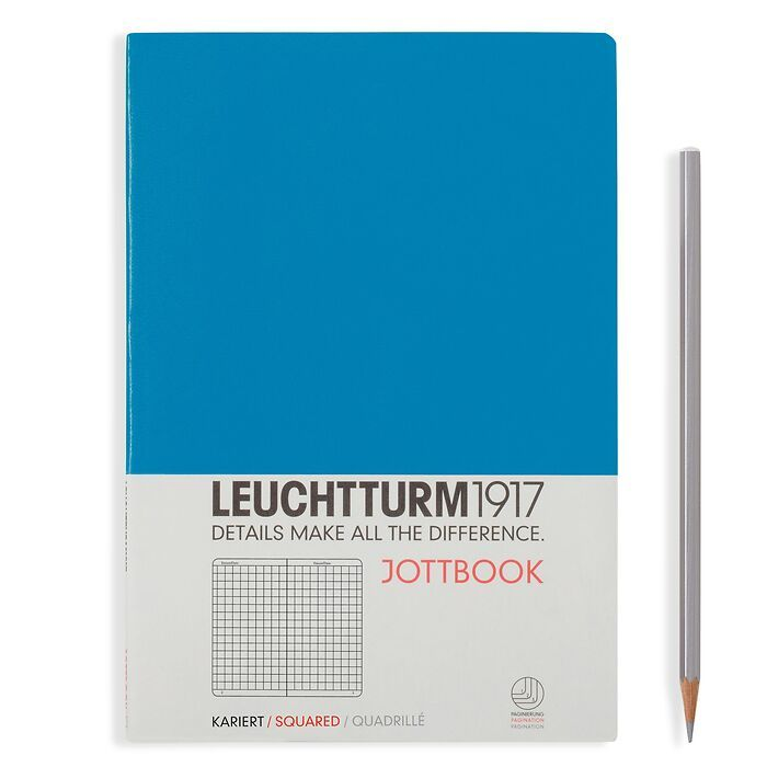 Jottbook Medium (A5), 60 pages,16 pages perforated, squared, azure