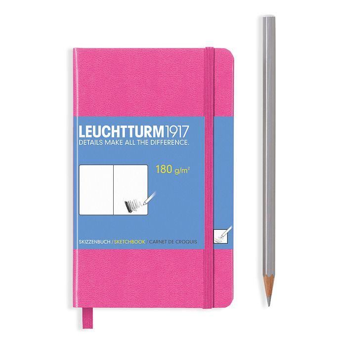 Sketchbook Pocket (A6) plain, 96 pages (180 g/sqm), new pink
