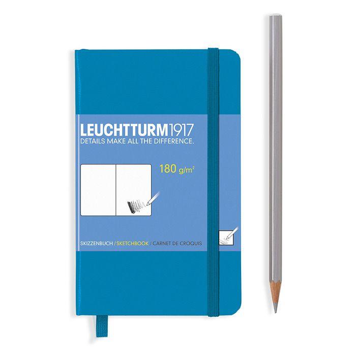 Sketchbook Pocket (A6) plain, 96 pages (180 g/sqm), azure