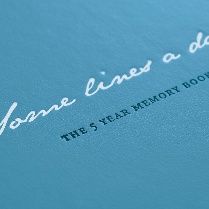 Some lines a day, 5 Year Memory Book Medium (A5), Nordic Blue
