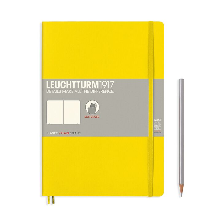 Notebook Composition (B5) plain, softcover, 121 numbered pages, lemon