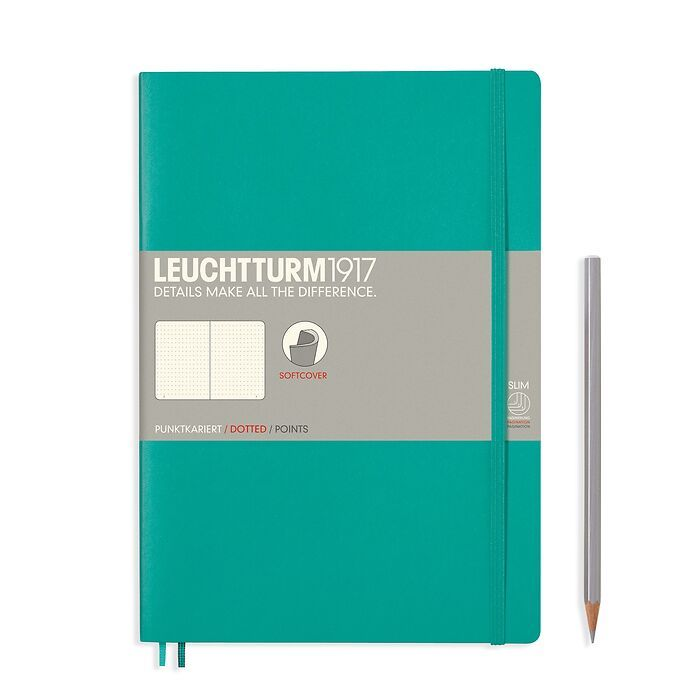 Notebook Composition (B5) dotted, softcover, 121 numbered pages, emerald