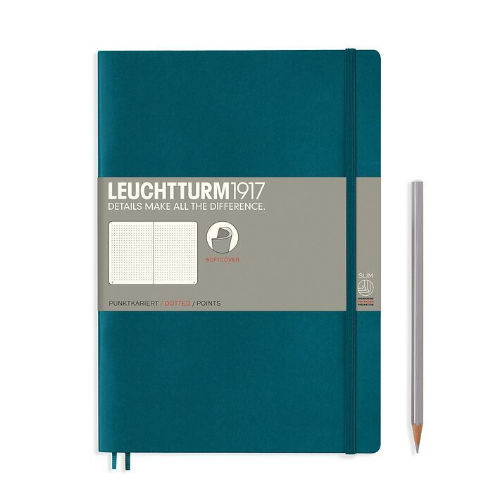 Notebook Composition (B5) dotted, softcover, 123 numbegreyges, pacific green