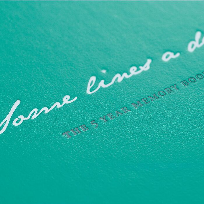 Some lines a day, 5 Year Memory Book Medium (A5), Emerald