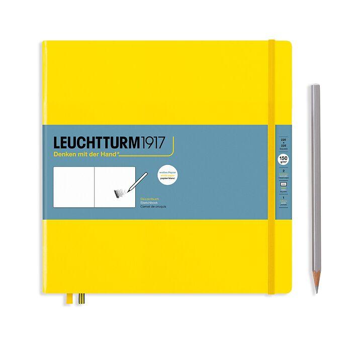 Sketchbook Square (225 x 225 mm), Hardcover, 112 pages (150 g/sqm), plain, Lemon