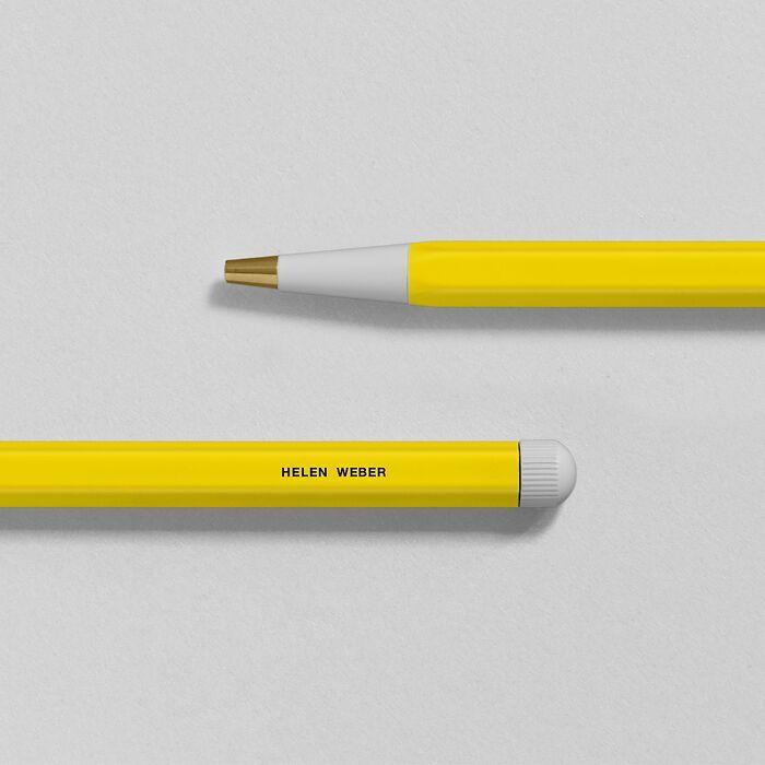 Drehgriffel Nr. 1, Lemon - Gel pen with black ink