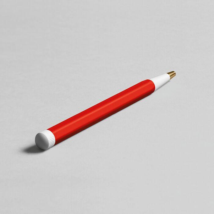 Drehgriffel Nr. 1, Red - Gel pen with black ink