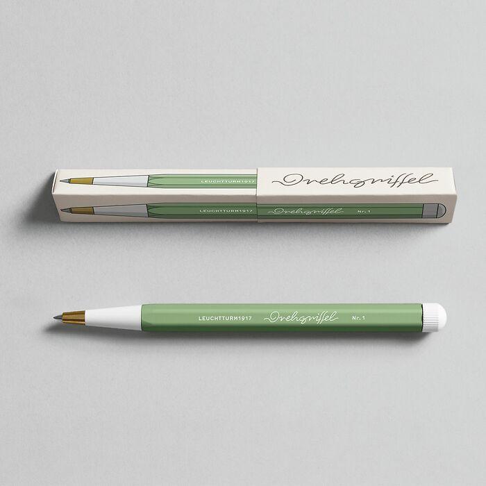 Drehgriffel Nr. 1, Sage - Gel pen with black ink