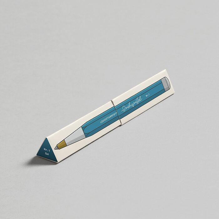 Drehgriffel Nr. 1, Nordic Blue - Gel pen with black ink