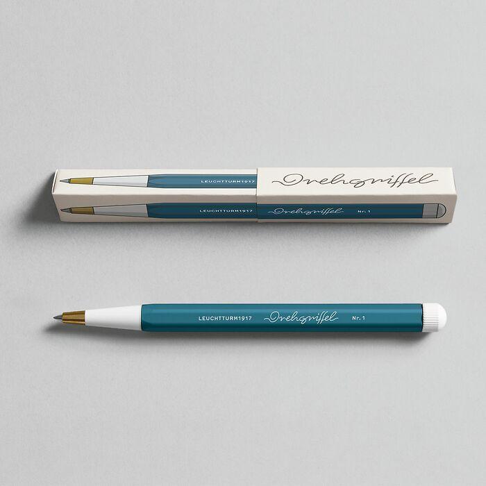 Drehgriffel Nr. 1, Stone Blue - Gel pen with black ink