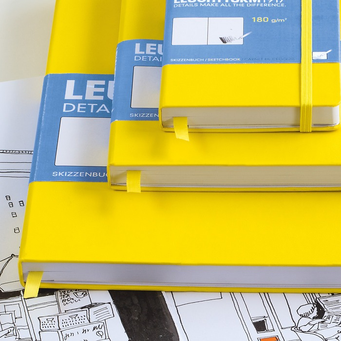 Sketchbook Pocket (A6), Hardcover, 96 white pages (180 g/sqm) (3 1/2 x 6 in)