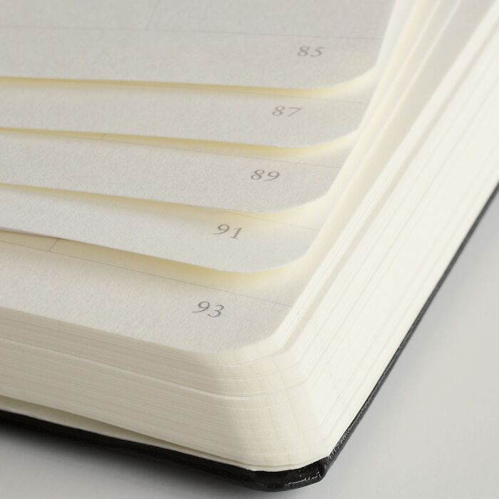 Notebook Pocket (A6), Hardcover book linen, 185 numbered pages