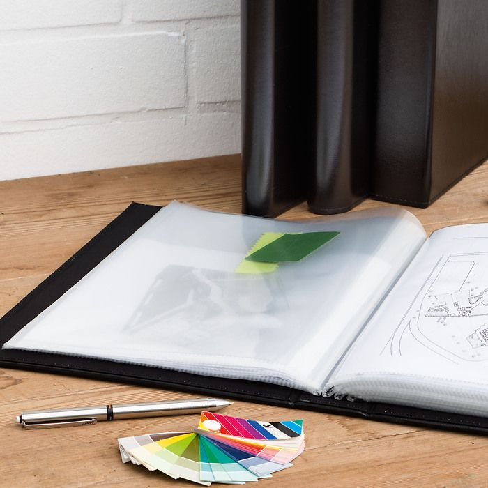 Certificate Portfolio DIN A4 with sturdy and copy-save transparent pockets