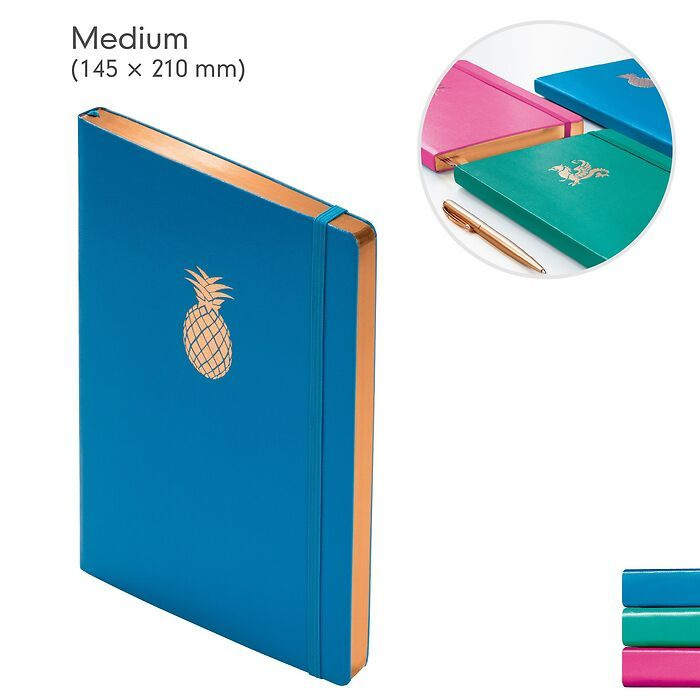 Notebook  (A5), with copper edge, Hardcover, 249 numbered pages (5 3/4 x 8 1/4 in)