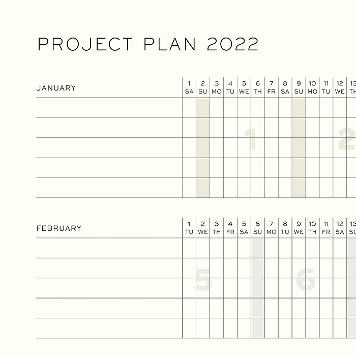 Weekly Planner and Notebook 2021, 18 months, english
